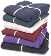 Deluxe Cotton Yoga Blanket without Tassels by Yoga Direct