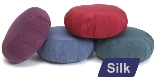 Round Silk Zafu Meditation Cushion