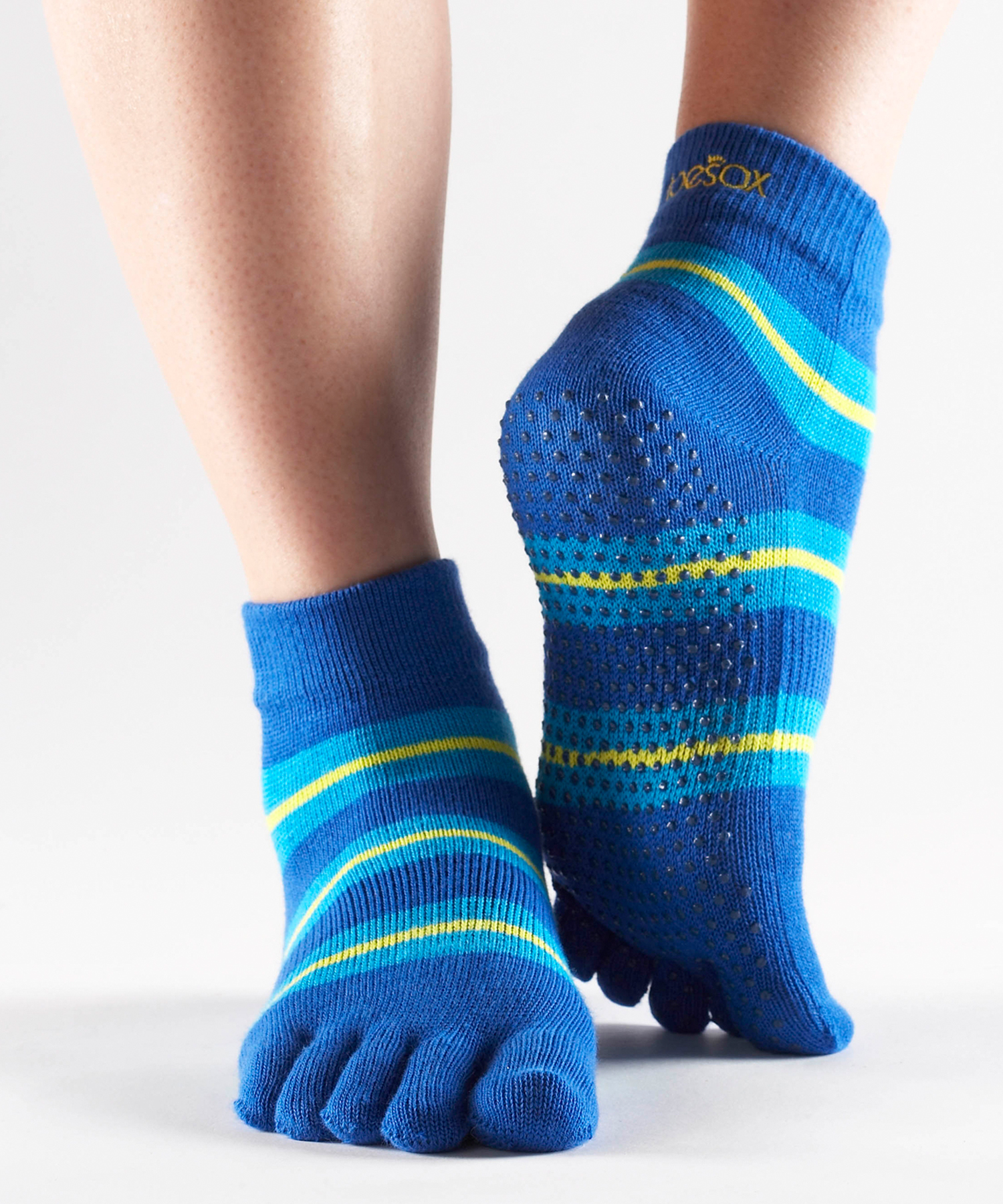 Toesox With Grip Full Toe Ankle Yoga Direct