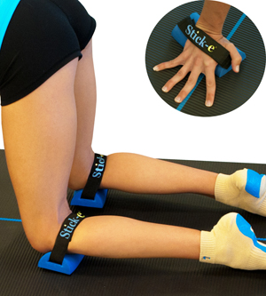 Yoga Stick-e Knee & Wrist Saver (1 Pair) by Sticke-Products LLC