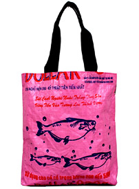 Recycled Rice Bag – Shopping Tote by MaliaDesigns