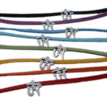Sterling Silver Tibetan Om (Aum) Anklet or Bracelet by Shanti Boutique