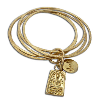 Buddha Shanti Bangles Bracelet Recycled Brass by Shanti Boutique