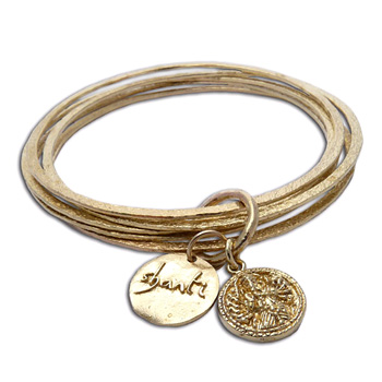 Ganesh OM Bangles Bracelet Recycled Brass by Shanti Boutique