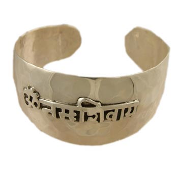 Om Namah Shivaya Cuff Bracelet by Shanti Boutique