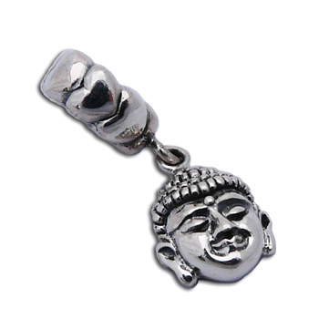 Buddha Face Bead Charm by Shanti Boutique