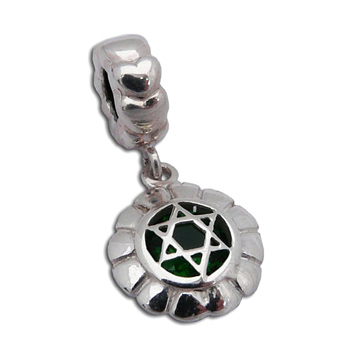 Heart Chakra Charmas Bead Green 4.5 mm opening