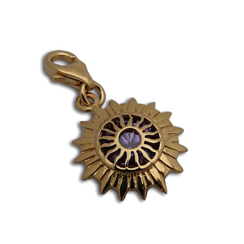 Charmas Crown Chakra Stone Charm Gold Mini by Shanti Boutique