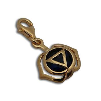 Charmas Forehead Chakra Stone Charm Gold Mini by Shanti Boutique