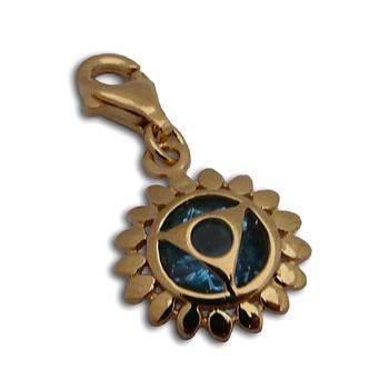 Charmas Throat Chakra Stone Charm Gold Mini by Shanti Boutique