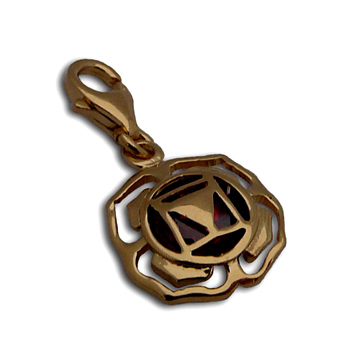 Charmas Root Chakra Stone Charm Gold Mini by Shanti Boutique