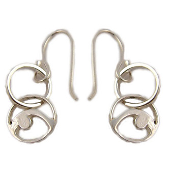 Yoga Pose Sterling Silver Earrings – Back Bend Double Loop by Shanti Boutique