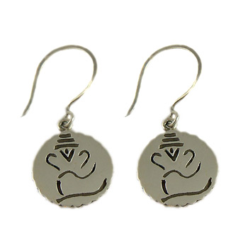 Ganesh, Hindu Deity, Sterling Silver Earrings by Shanti Boutique