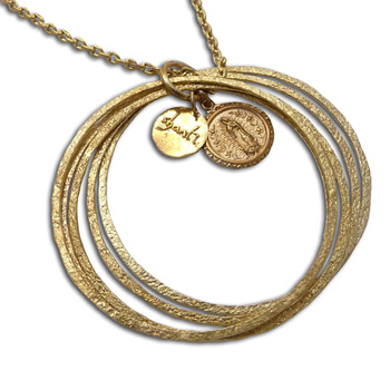 Virgin of Guadalupe Bangles Necklace Recycled Brass