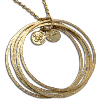 Ganesh OM Bangles Necklace Recycled Brass by Shanti Boutique