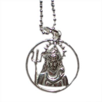 "Shiva, Hindu Deity Pendant Necklace on 16"" Chain – Sterling Silver by Shanti Boutique"