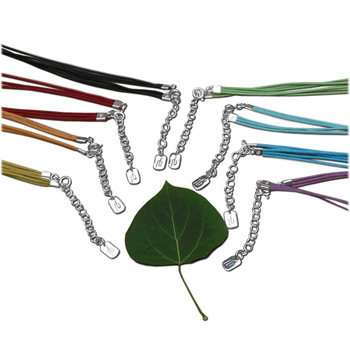 Cotton Cord Color Necklace with Sterling Silver Fastener – Ideal for Pendants (in 8 colors) by Shanti Boutique