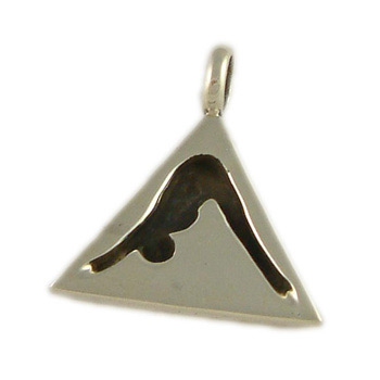 Yoga Tag - Sterling Silver Necklace Pendant with Yoga Pose