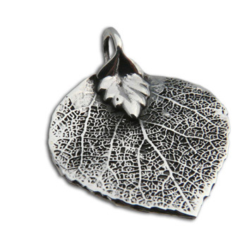 Bodhi Leaf Buddhist Pendant – Sterling Silver by Shanti Boutique