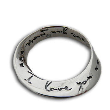 """Sterling Silver Mobius Infinity Pendant – """"I Love You"""" by Shanti Boutique"""