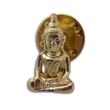 Buddha Scatter Pin Recycled Brass by Shanti Boutique