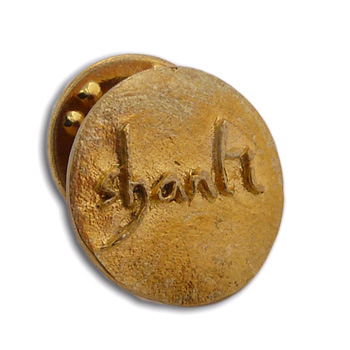 """Shanti """"Peace"""" Scatter Pin Recycled Brass by Shanti Boutique"""