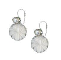tagua lotus and pearl earrings direct