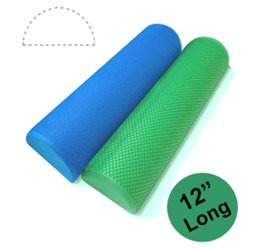 "12"" Half Round EVA Foam Roller by Yoga Direct"