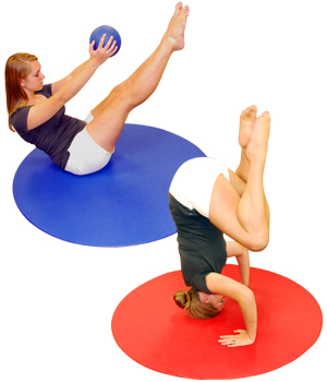 Yoga Direct Ultra 4 Foot Circular Aerobics Mat by Yoga Direct
