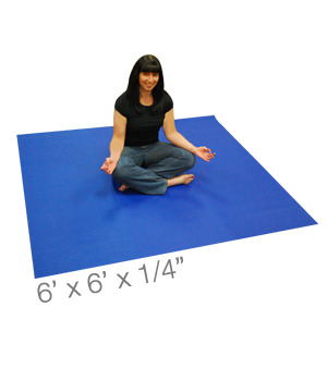 Yoga Direct Maendy Mat – 6 Foot Square Yoga Mat by Yoga Direct