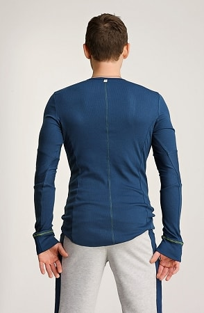4 Rth Mens Thermal V Neck Long Sleeve