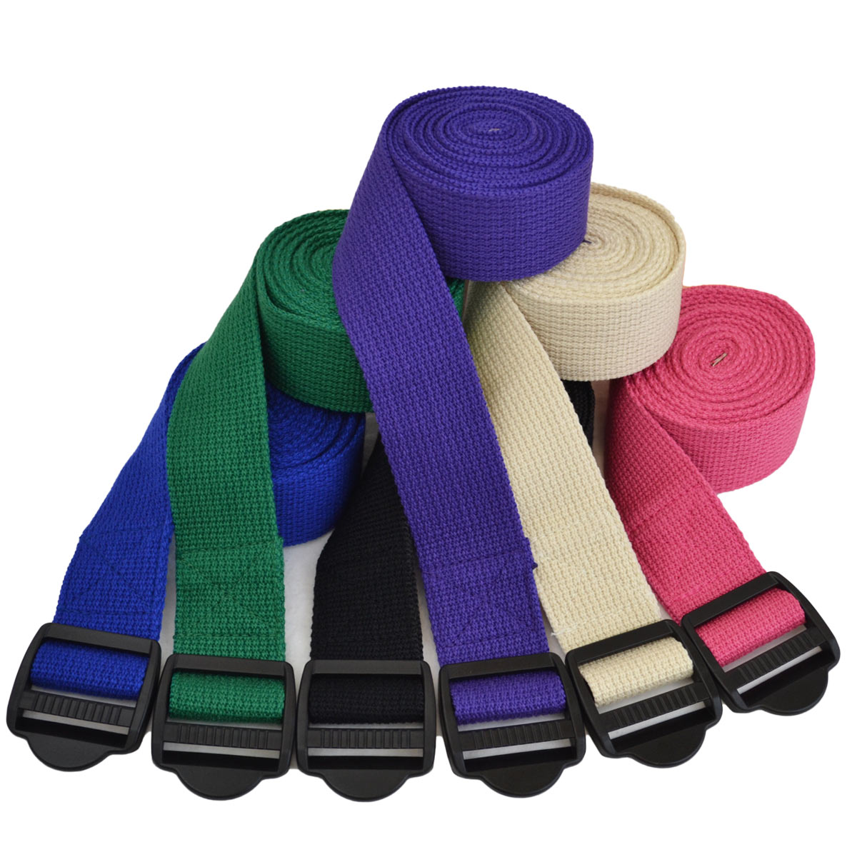 Yoga Strap – Plastic Buckle – 8 Feet – Purple