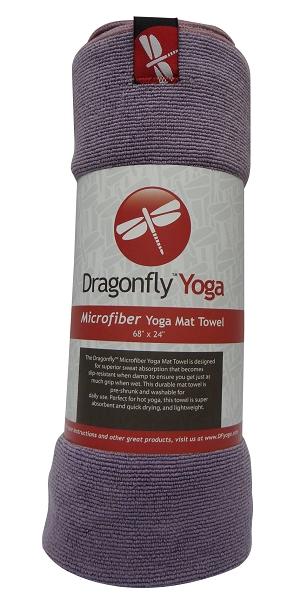 Dragonfly Microfiber Mat Towel – Purple