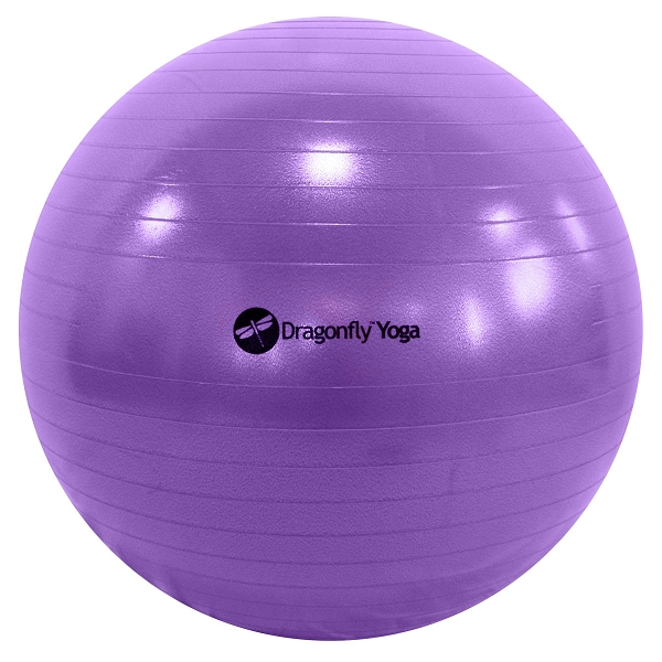 Dragonfly 65cm Premium Anti-Burst Yoga Ball – Purple