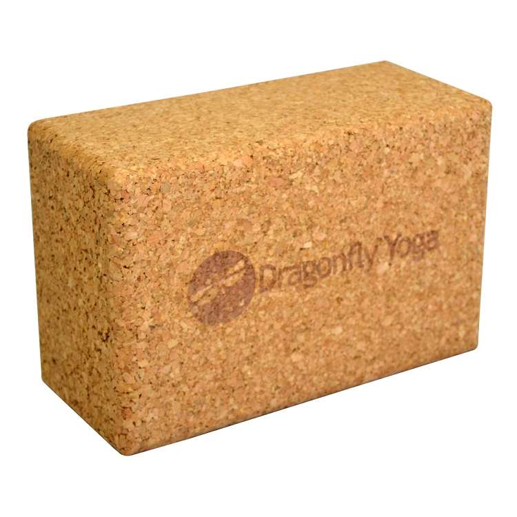 Dragonfly 4 Inch Cork Yoga Block | Yoga Direct