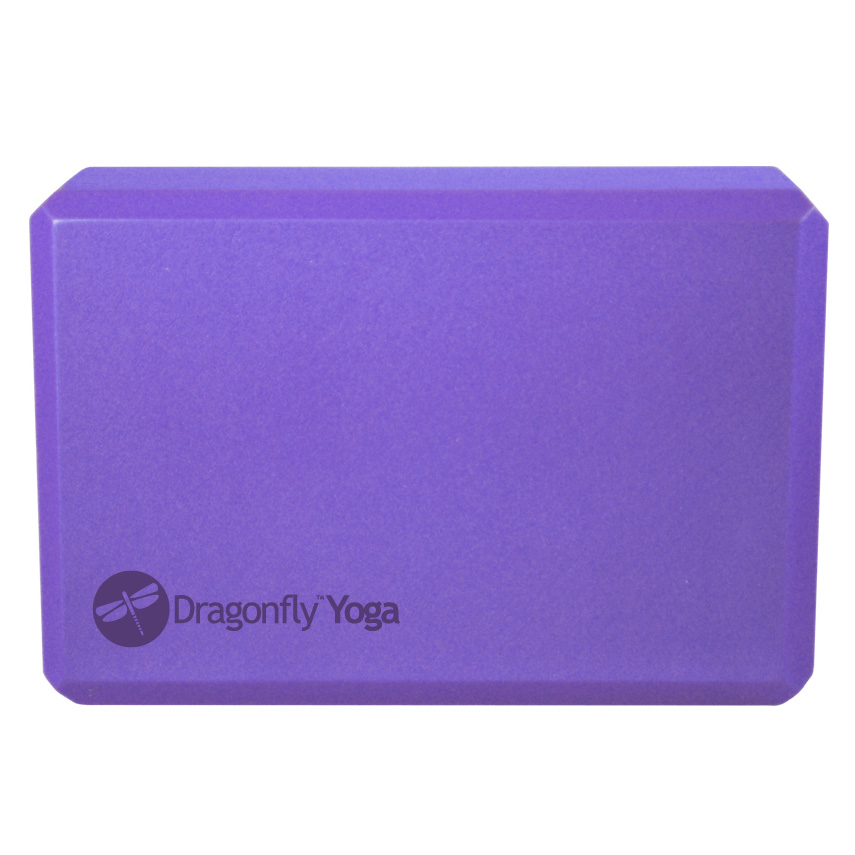 Dragonfly 3″ Foam Yoga Block – Blue