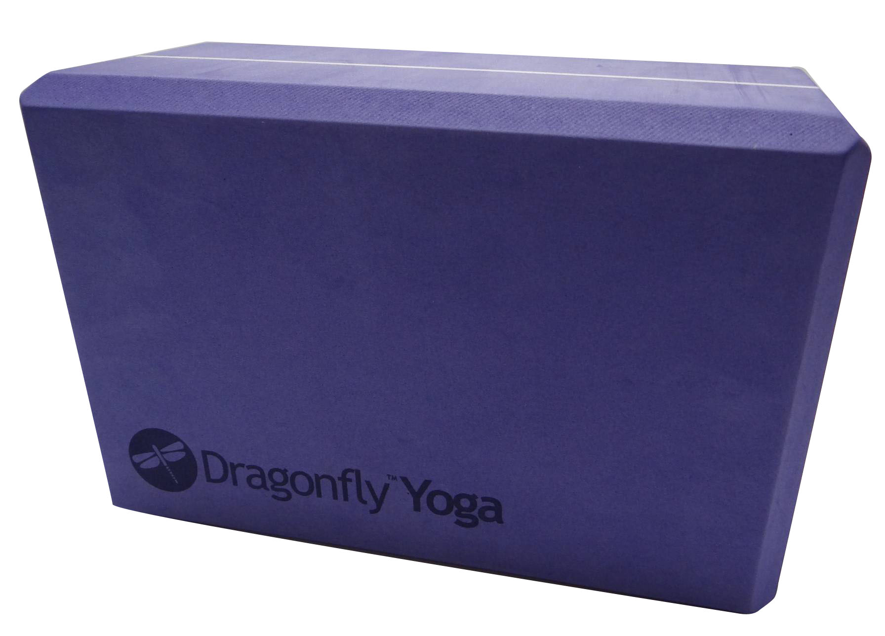 Dragonfly 4″ Premium Foam Yoga Block – Purple