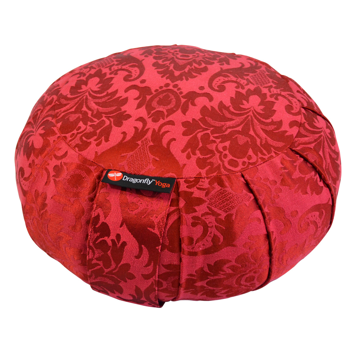 Dragonfly Round Silk Zafu – Red