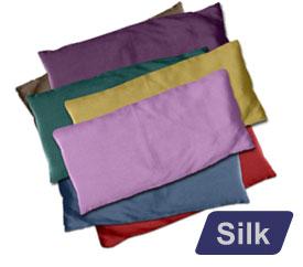 Large Silk Eye Pillow (Natural) - Green