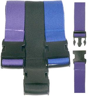 8′ Pinch Buckle Cotton Yoga Strap – Blue