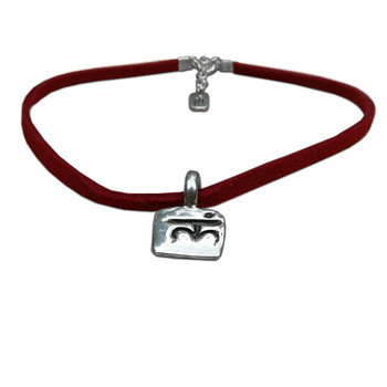 Chakra Pendant Anklet in Sterling Silver with Ultrasuede Leather Cord