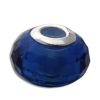 Faceted Forehead Chakra Blue Stone Bead Pandora Compatible