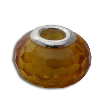 Faceted Solar Plexus Chakra Bead Yellow Cubic Zirconia