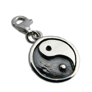 Charmas Sterling Silver Yin Yang Charm with Spring Clasp