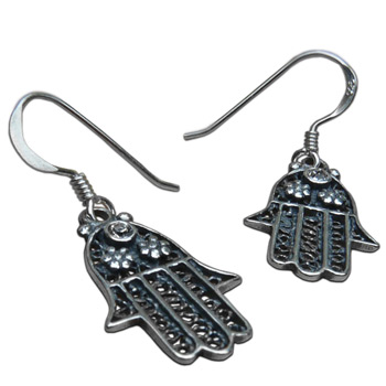 Hamsa - Hand of Fatima Protection Earrings