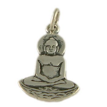 Buddha Pendant or Charm in Sterling Silver or 18k Gold Vermeil
