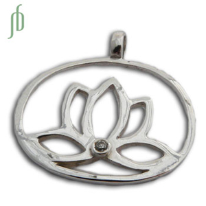 Enlightenment Lotus Pendant Stone