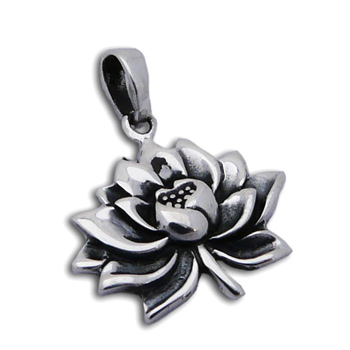 Water Lily Pendant Silver