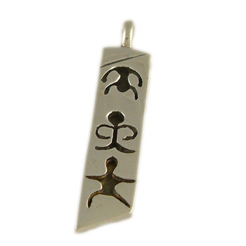 Trinity Three Yoga Pose Pendant in Sterling Silver