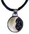 Tagua and Amethyst Pendant